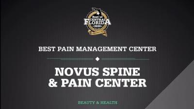 Novus Spine & Pain Center recognized as Best Pain Management Center