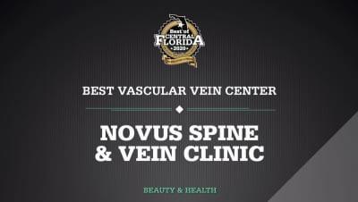 Novus Spine & Pain Center recognized as Best Vascular Vein Center