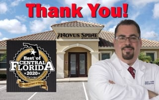 Novus Spine & Pain Center recognized as the Best of Central Florida
