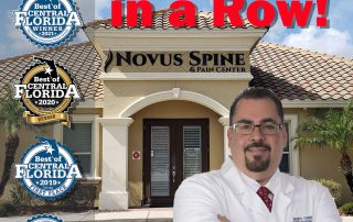 Novus Spine & Pain Center is Best of Central Florida Four Years in a Row